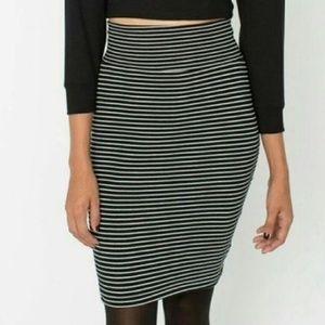 American Apparel Stripe Pencil Skirt